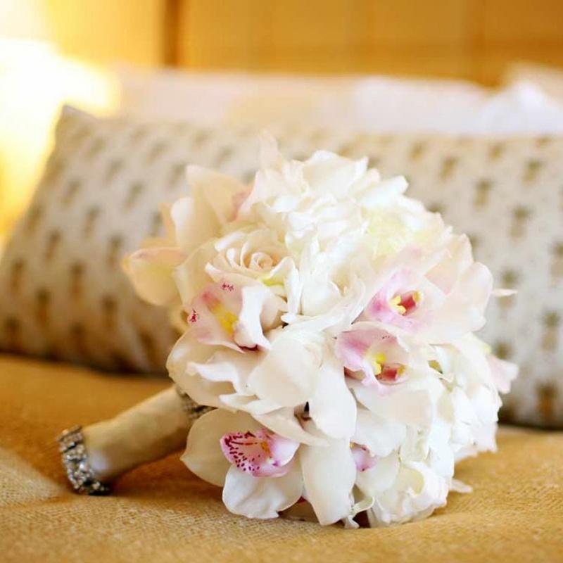 Букеты свадебные из орхидей, букета трех