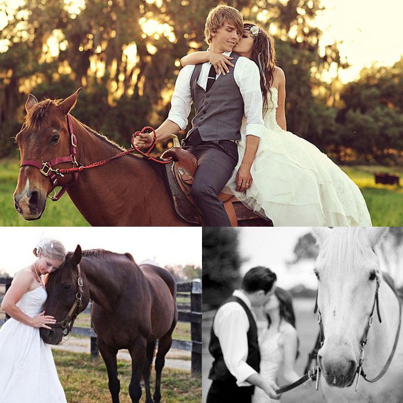 Позы для свадебной фотосессии на лошадях