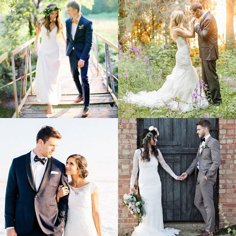 Позы для свадебной фотосессии: свадебные позы на улице зимой, летом, осенью и весной.