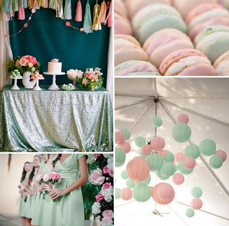Мятная свадьба, оформление свадьбы в мятном цвете