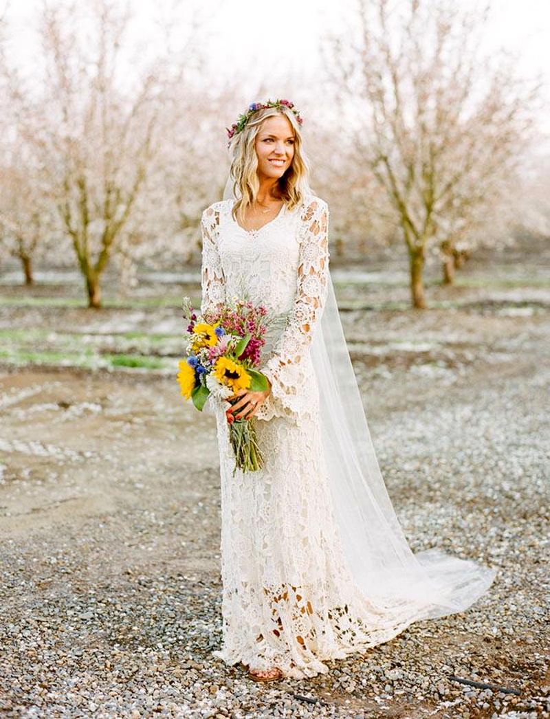 вас интересует свадебное платье в стиле рустик фото перехода