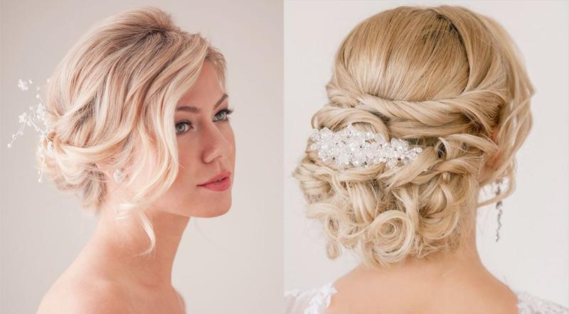 Прически пучки на средние волосы свадебные фото