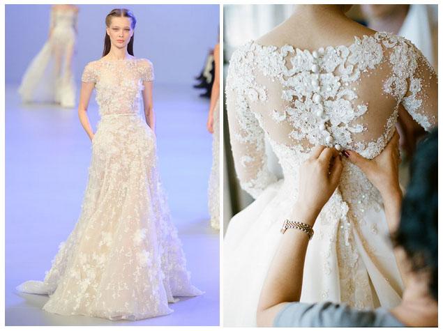 Свадебное платье объемное