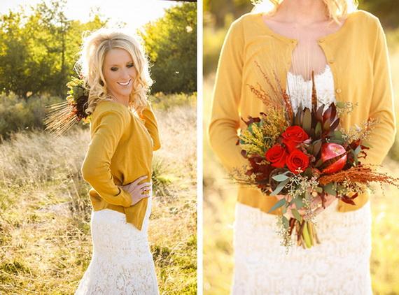 Свадебное платье осеннее