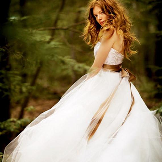 Платье свадебное осеннее