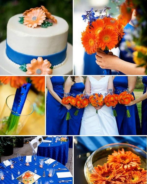 Свадьба красно синяя