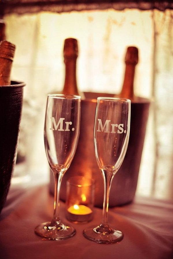 Бокалы на свадьбу с гравировкой