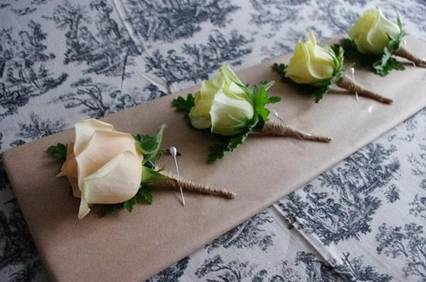 Бутоньерка для жениха - как выбрать, идеи и мастер