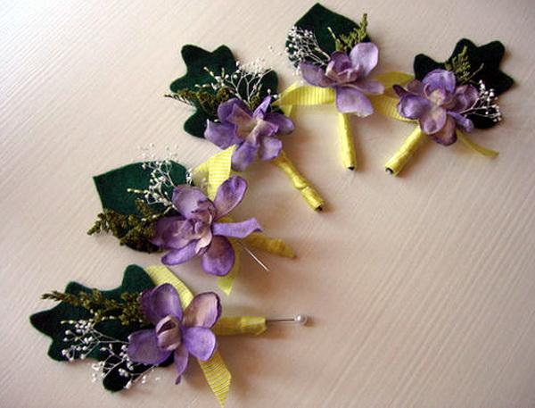 Своими руками свадебные цветочки для гостей