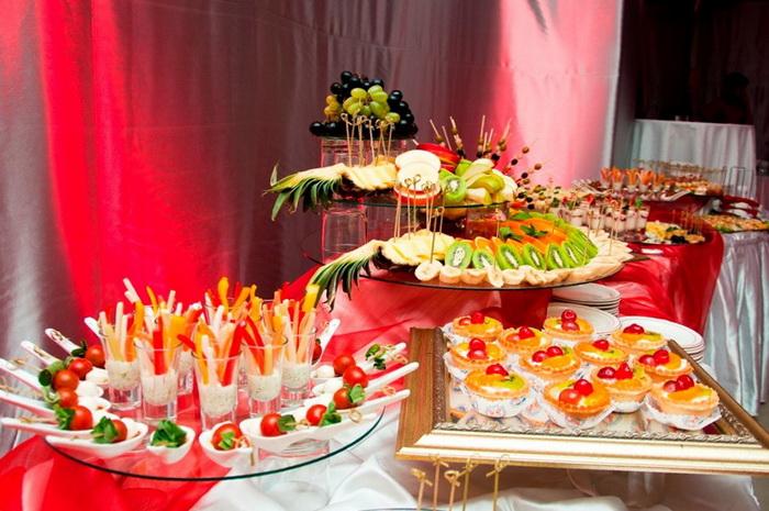 Фуршет свадебный меню