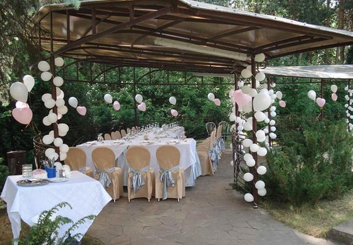Украсить двор к свадьбе